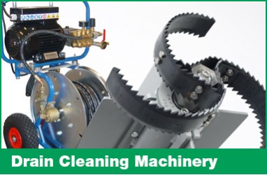 Drain cleaning machinery