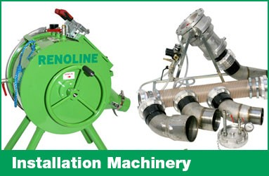Drain lining installation machinery