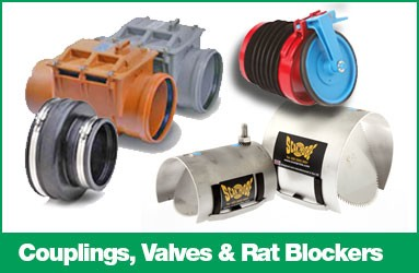 Couplings, valves and Rat Blockers